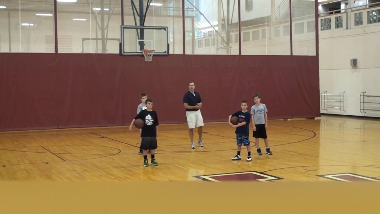 Great Youth Basketball Dribbling Drill For 2nd 3rd 4th Grade Eyes Up Dribble To Rim Yo Basketball Drills Dribbling Youth Basketball Basketball Workouts