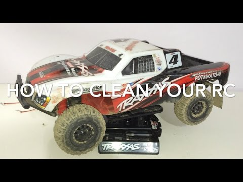 CLEANING RC CARS AND TRUCKS