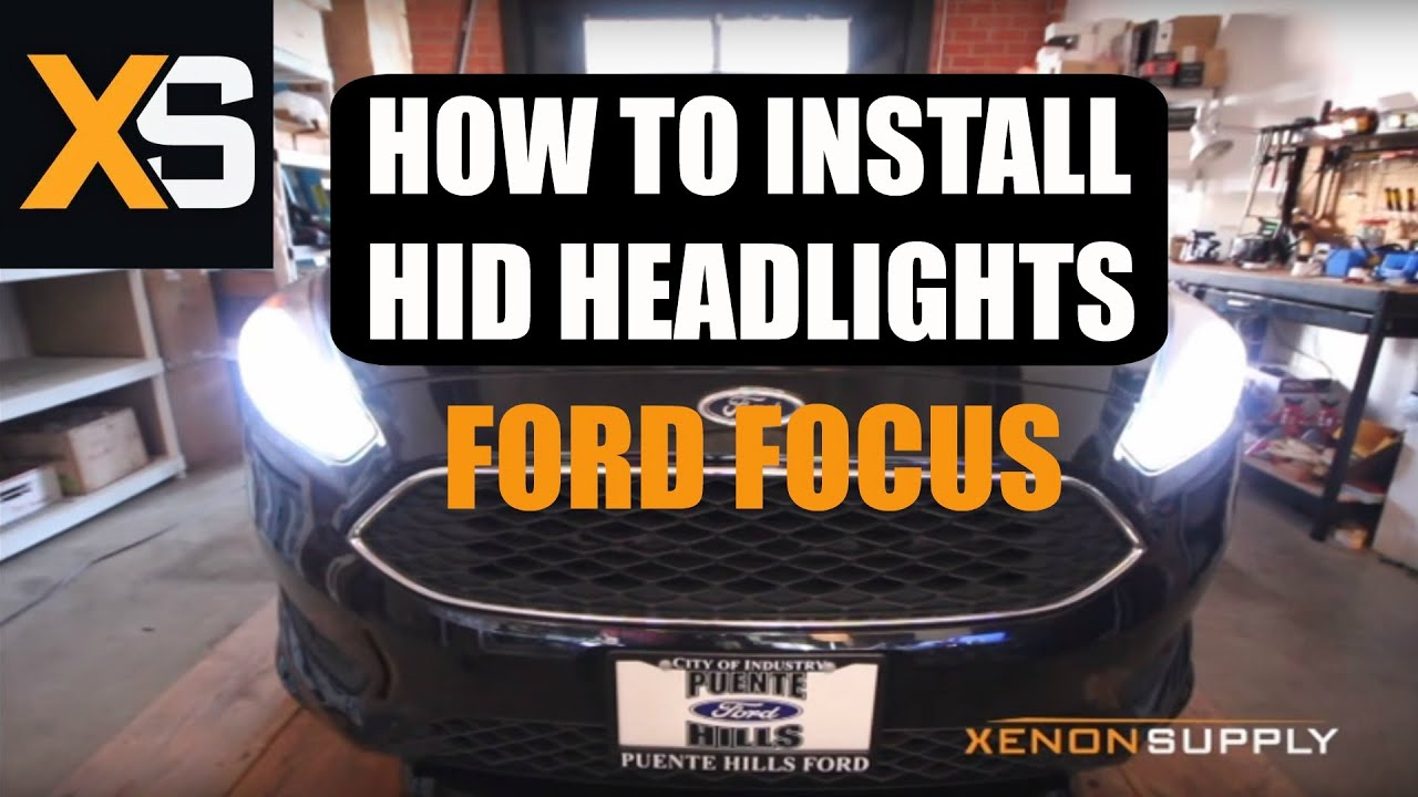 2015 Ford Focus Hid Install 2010 Diy Xenon Conversion Kit Nissan Cube Wiring Diagram For Headlights Youtube