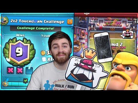 PHONE DIES & STILL WON 9-2 TOUCHDOWN MODE?!?!   Clash Royale   BEST TOUCHDOWN TIPS!