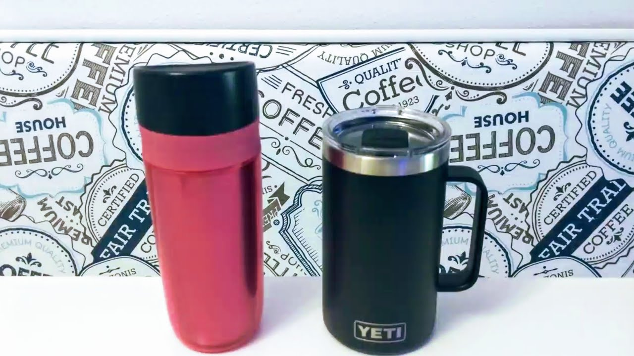 New Yeti 24 oz  Rambler Mug comparison with regular mug