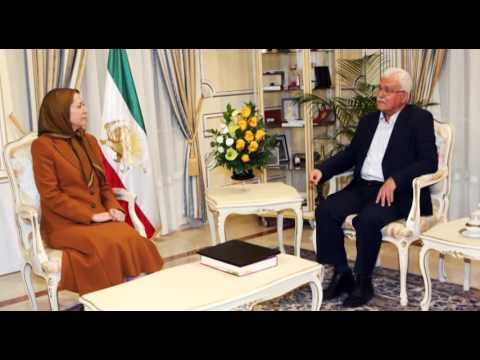 Maryam Rajavi meets with George Sabra- Auvers-sur-Oise, May 12, 2016