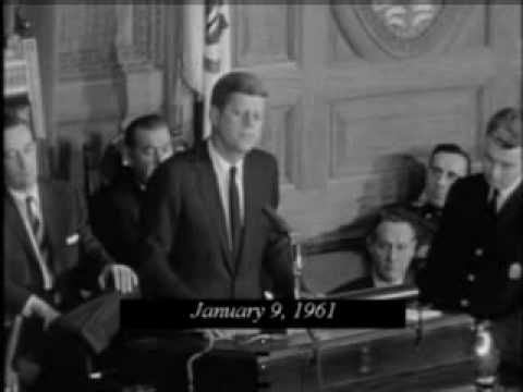 January 9, 1961 - President-Elect John F. Kennedy addresses the Massachusetts State Legislature