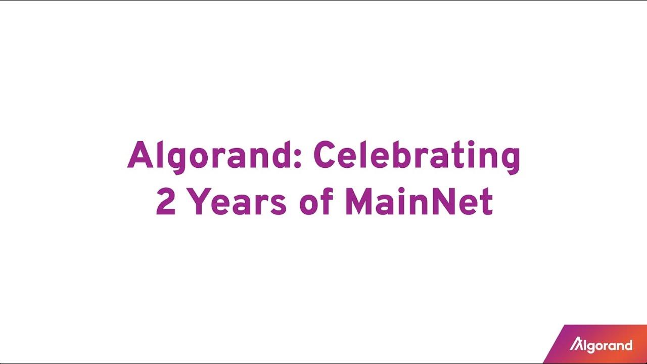アルゴランド・メインネット開設2周年!