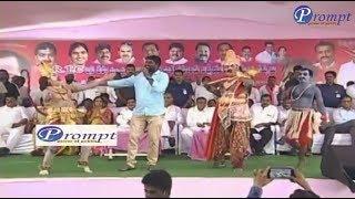 SANGAREDDY నర్సాపూర్ సభలో దుమ్ము లేపిన సాయిచంద్ పాట !! TELANGANA SINGER SAI CHAND !!