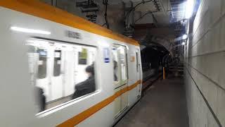 OsakaMetro(大阪メトロ)蒲生四丁目駅で80系普通井高野行き発車シーン(2020年3月23日月曜日)携帯電話で撮影