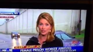 Dannemora Prison Contraband goes over wall during News Cast!