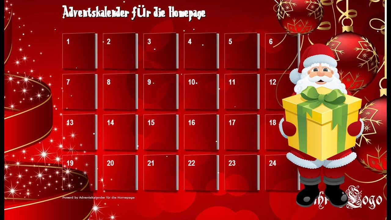 online adventskalender 2018 f r die eigene homepage oder fb seite youtube. Black Bedroom Furniture Sets. Home Design Ideas