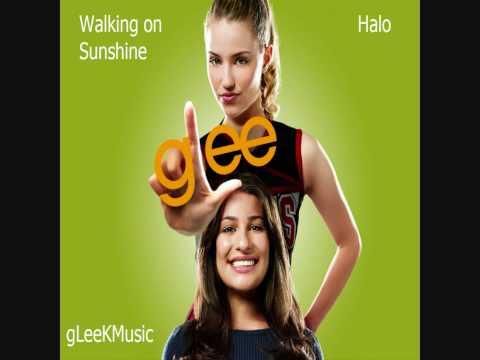 GLee Cast - Walking on Sunshine/Halo (HQ)