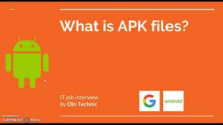 [Android] What Is APK Files?