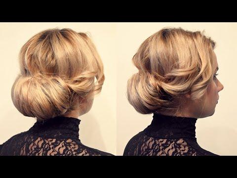 Причёска с валиком своими руками - Hairstyles by REM