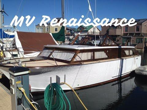 Wooden Boat Exhaust Tip, Vernatone Marine Muffler,  MV Renaissance