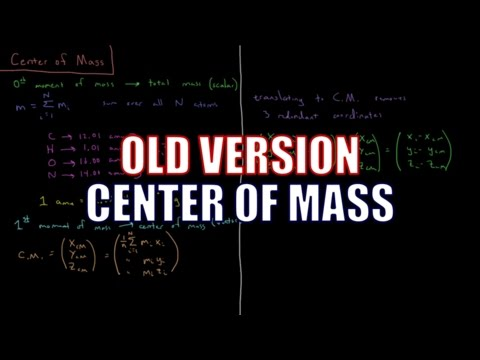 Computational Chemistry 1.12 - Center of Mass (Old Version)