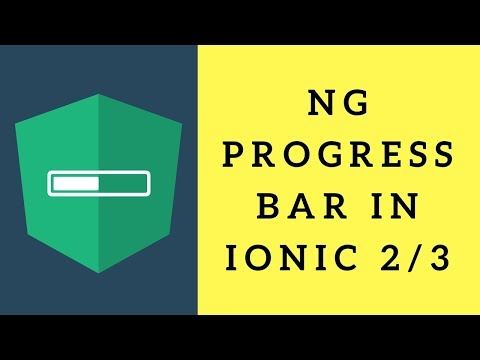 NG-progress Component in ionic 3 #its easy - YouTube