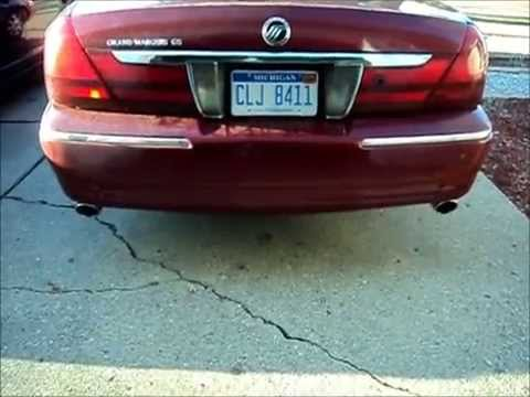 Grand Marquis with Marauder OEM Catback Exhaust  YouTube
