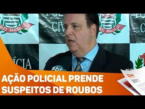 Ação policial prende suspeitos de roubos - TV SOROCABA/SBT