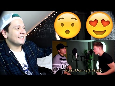 Alex Aiono VS Connor Maynard 24K Magic SING OFF (Bruno Mars) | Reaction