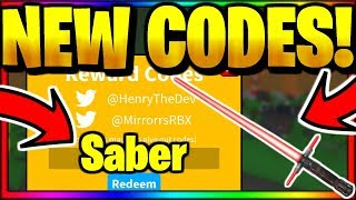 *ALL* 7 NEW OP WORKING CODES! Roblox Saber Simulator [Update 1🎉]