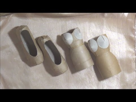 Ballet Slipper / Shoe and Art Dress Tutorials - TP Roll Crafts