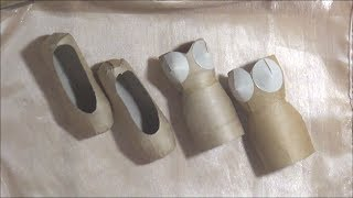 Ballet Slipper / Shoe and Art Dress Tutorials - TP Roll Crafts