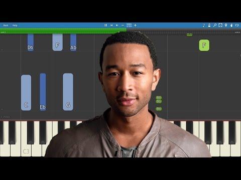 John Legend - Love Me Now - Piano Tutorial
