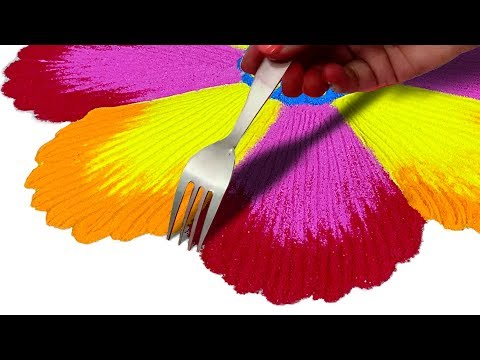 Beautiful Rangoli Design बनाने का तरीका | Rangoli Easy and Beautiful Designs for Diwali thumbnail