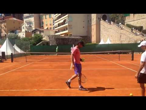 Rafael Nadal and Coach Carlos Moya day before match Monte Carlo Rolex Masters