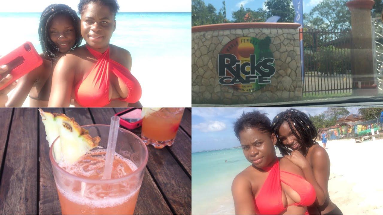 JAMAICA VLOG #53 || RICKS CAFE || SEXY BIKINI GIRLS ...