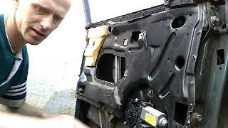 Как снять извлечь заменить стекло передней двери AUDI A6 C4/demontaz zamiana szyby drzwi przod!