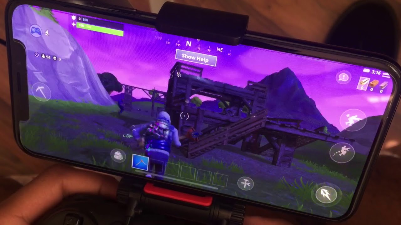 Fortnite Mobile Iphone X Controller Working Youtube