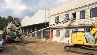 Доставка бетона в Бобруйске.Заливка пола 2 этаж транспортерной лентой 26 05 15 1(, 2015-09-12T16:51:55.000Z)