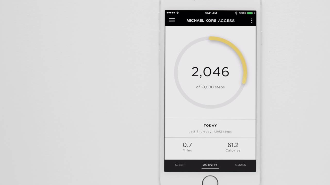 Michael Kors Access Tracker | Using Your Tracker