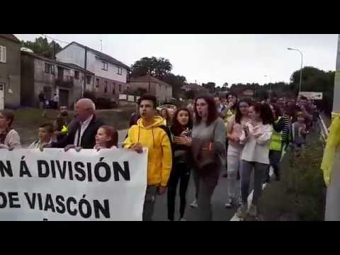 Manifestación en contra de la obra de reforma de la N 541 en Viascón
