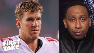 Stephen A. doesn't thİnk Eli Manning is good enough to be a Hall of Famer | First Take