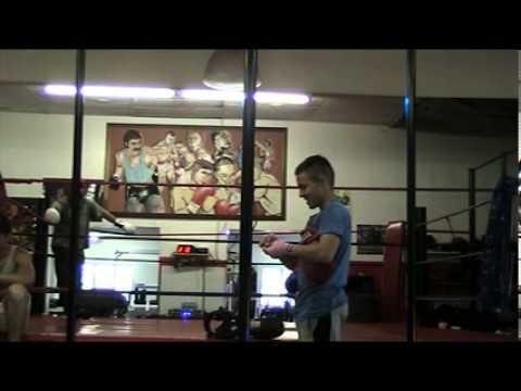 Boxing sparring in Boksburg 004 John Roodt  [Rupert van Aswegen,s Boxing Fitness]