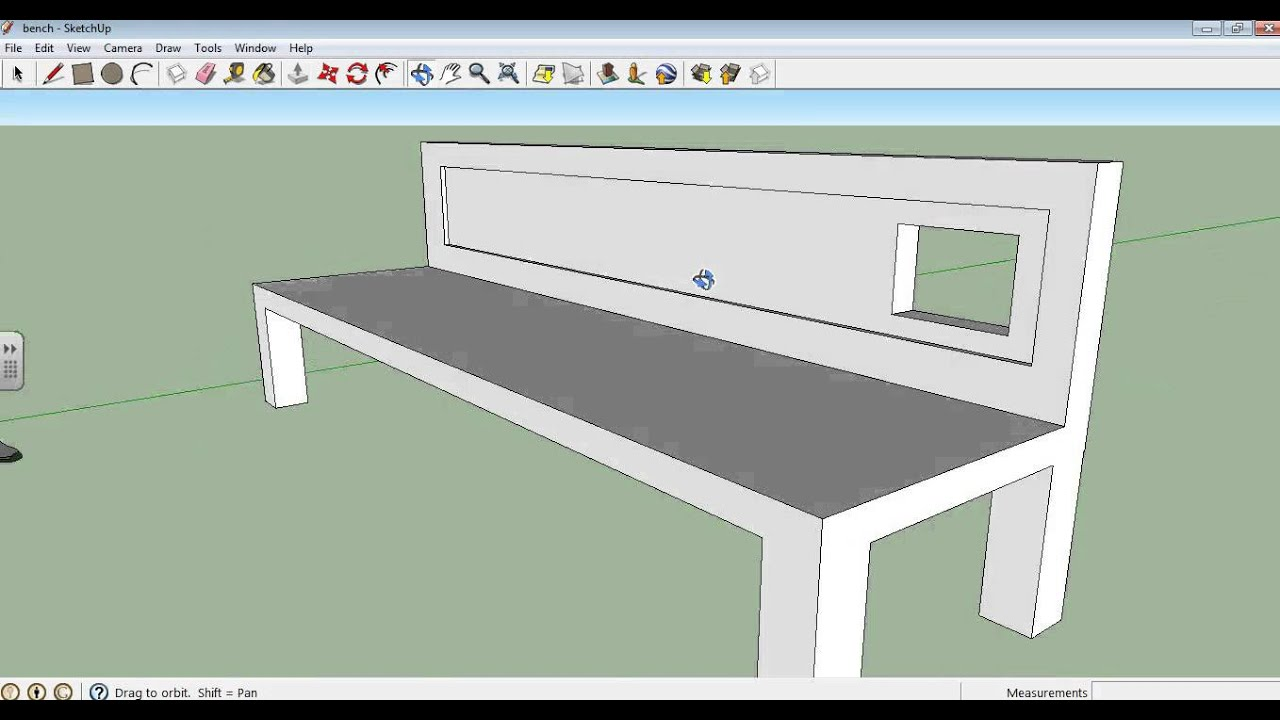 Google sketchup tutorial part 03: kitchen modeling (sink and tap.