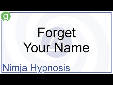Hypnosis - Forget Your Name