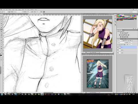 Рисование в стиле аниме в Photoshop CS6 (часть 2 - лайн)