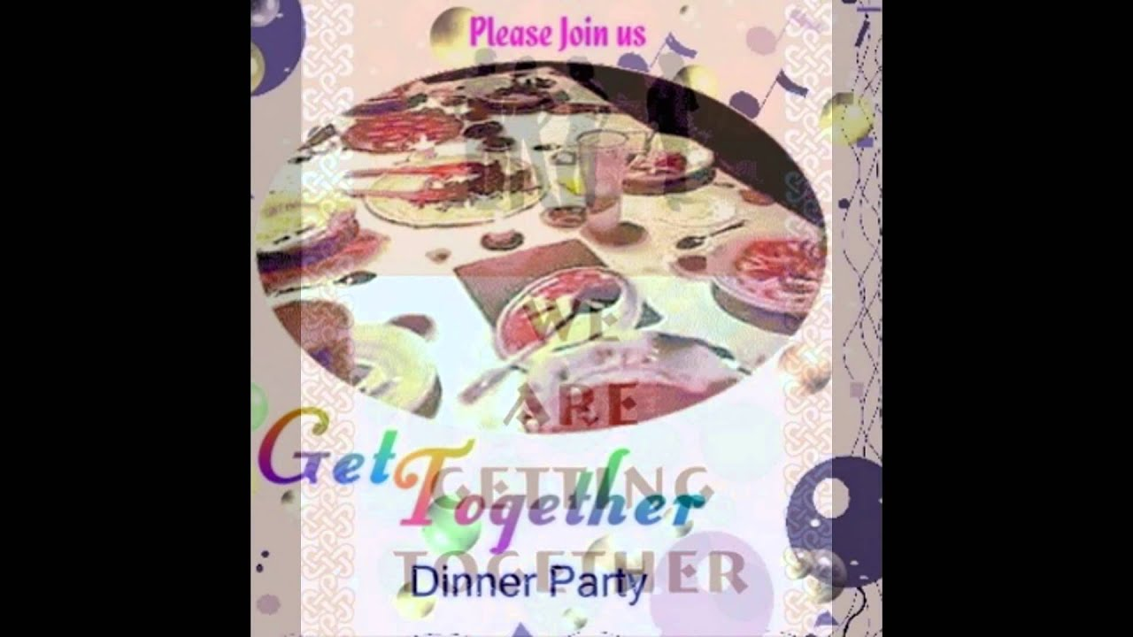 get together party invitation youtube