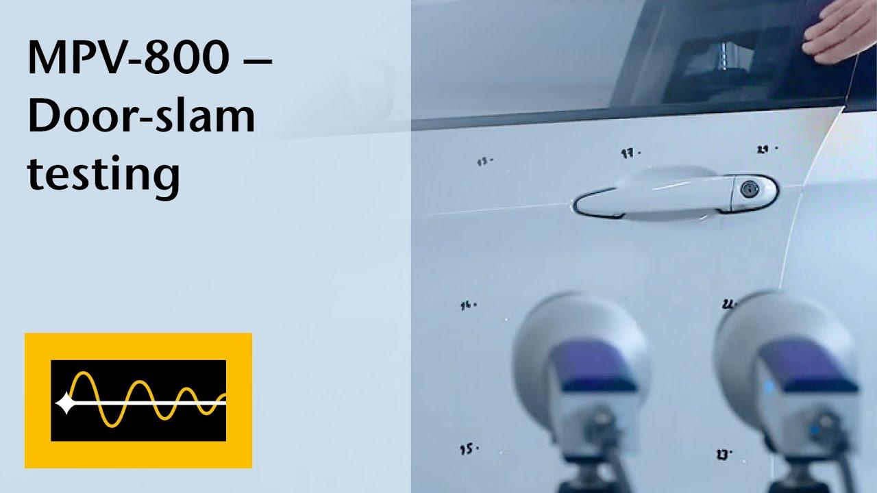 MPV-800 Multipoint Vibrometer for door-slam testing