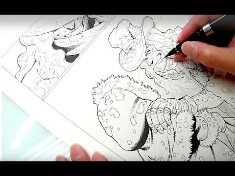 Watch Yukito Kishiro draw Battle Angel Alita (long versions)