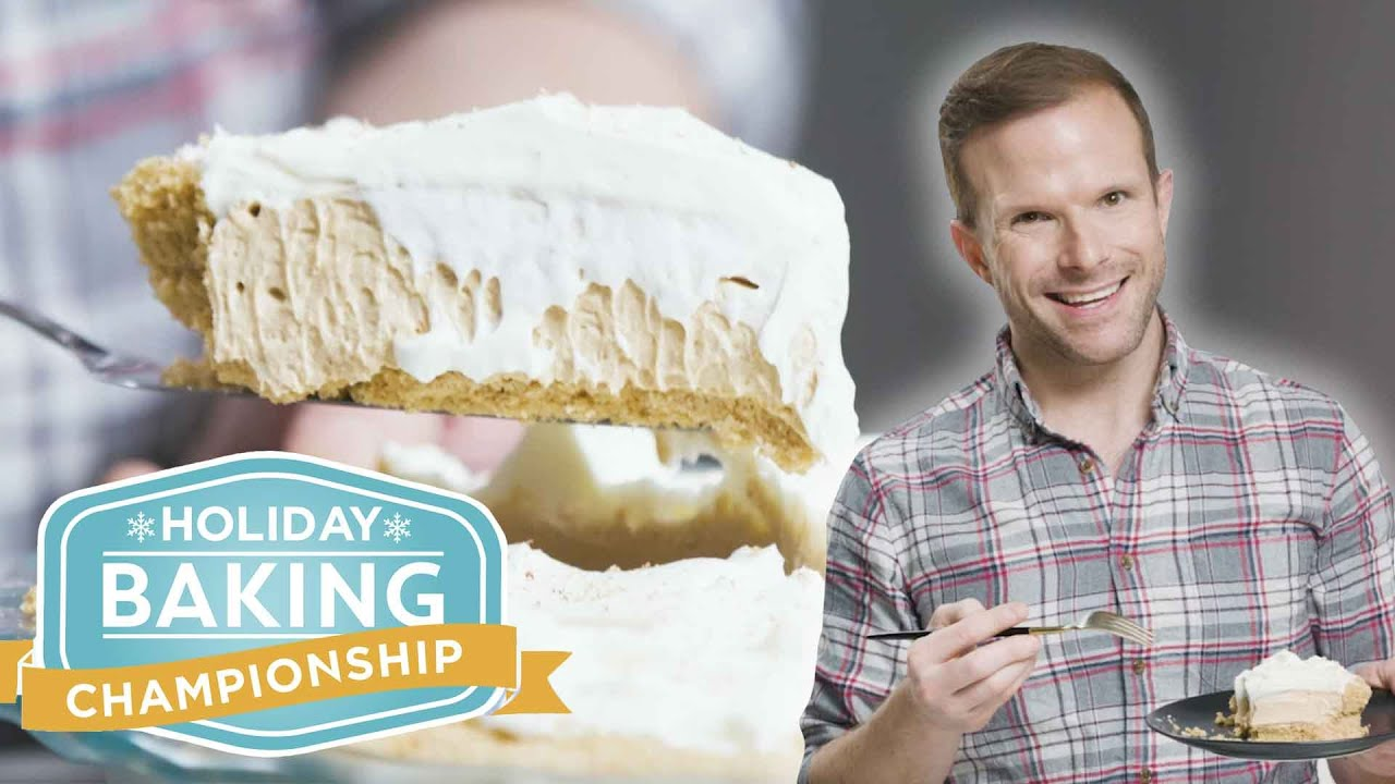 No-Bake Eggnog Cream Pie with Zac Young | Holiday Baking Championship