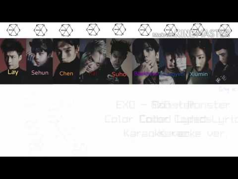EXO ( 엑소 ) - Monster [Karaoke ver.] Color Coded Lyrics [Instrumental/Kpop]