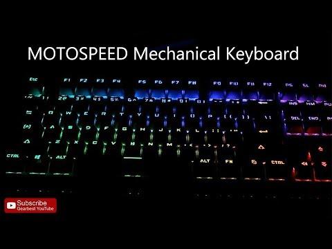 9778d85f15d MOTOSPEED Mechanical Keyboard CK101 - Gearbest.com - YouTube