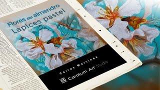 Como dibujar con lápices de colores   Flores del almendro