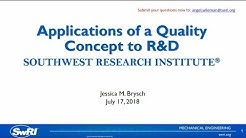 Applications of a Quality Concept to R&D