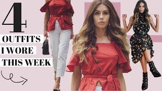 What I Wore This Week | Meeting with Josie Maran in NYC | 4 Outfit Look Book