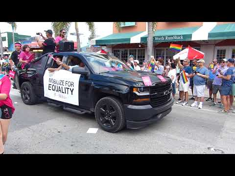 2018 Palm Beach Pride Parade - Lake Worth, Florida - 1