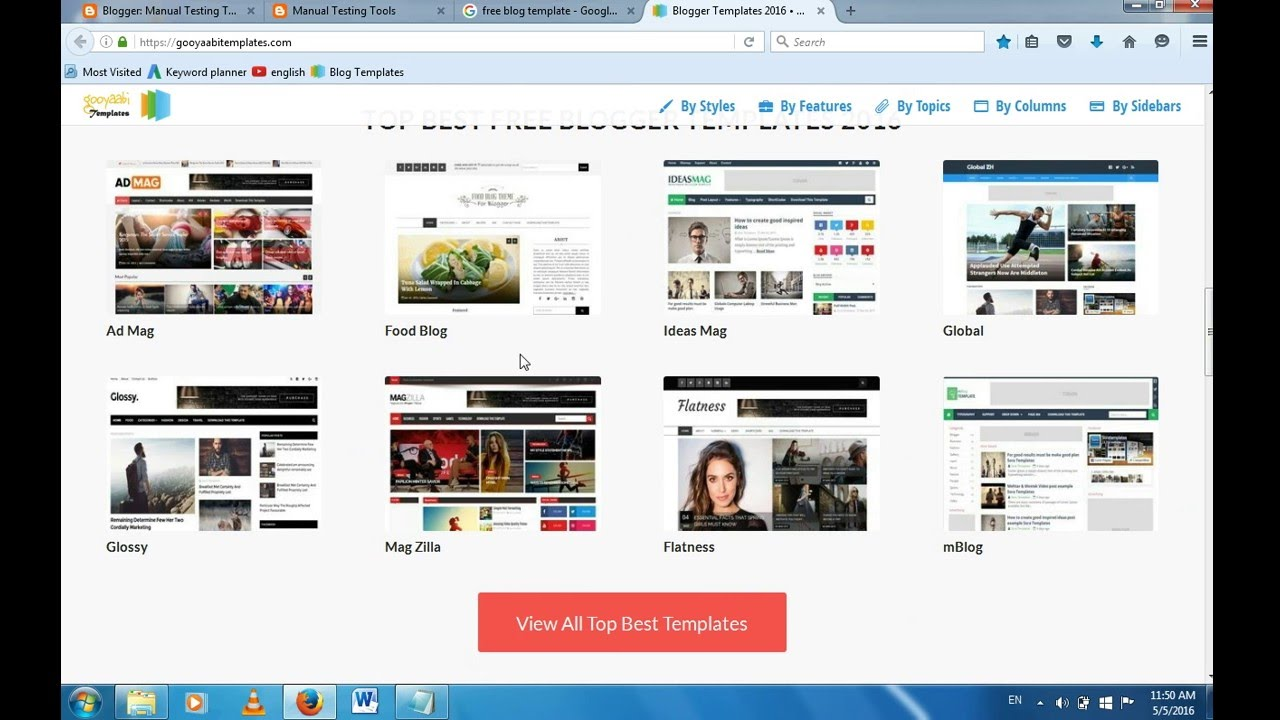 How To Download Website Template Free Template For Blogger Youtube