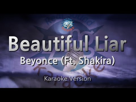 Beyonce-Beautiful Liar (Ft. Shakira) (Melody) (Karaoke Version) [ZZang KARAOKE]